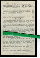 De Grendel Henricus O Zonnebeke 1877 Priester Menen-koekelare-steenkerke-zedelgem-hooglede + 1911 - Images Religieuses