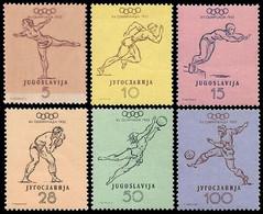 ** Yugoslavia - 1952 - Olympic Games 1952 - Mi. 698-703 - Summer 1952: Helsinki