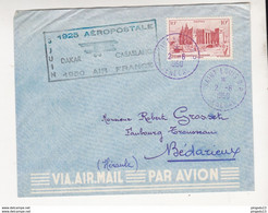 FIXE AEROPOSTALE DAKAR-CASABLANCA 3 JUIN 1950 AIR FRANCE - DAKAR SENEGAL - Lettres & Documents
