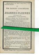 Joannes Pleunes Wed Catharina Vandeputte O Zande 1802 + Zande 1891 - Images Religieuses