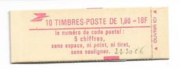 CARNET Nº2220-C6   CONF:9  FERMÉ  TTB    CARNET DE 10 TIMBRES À  1.80FR  LIBERTE DE DELACROIX - Usage Courant