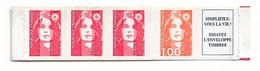 FRANCE - BANDE DU CARNET 1507  MARIANNE DE BRIAT 3 X Nº2874 1 Nº3009 + Vignette    MNH  NEUF - 1900-27 Merson