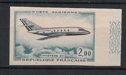 France - 1965 -  Poste Aérienne PA N°Yv. 20 - Mystère - Non Dentelé / Imperf. - Neuf Luxe ** / MNH / Postfrisch - Variétés: 1960-69 Neufs
