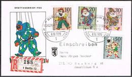 [C0119] Berlín 1970; FDC Serie Marionetas (SU) - FDC: Enveloppes
