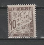 FRANCE / 1893 - 1935 / Y&T TAXE N° 29 ** : Duval 10c Brun X 1 - 1859-1955 Neufs