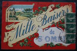 CPA Pas De Calais – St OMER (62500) Mille Baisers De St-Omer – Bonne Fête – A Voyagé En 1920 à Destination De La Place D - Saint Omer