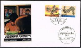 [C0120] Berlín 1971; FDC Projuventud, 10+5Pf, 50+25Pf (SU) - FDC: Enveloppes
