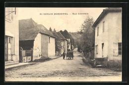 CPA St-Sorlin-Morestel, Rue Centrale, Vue De La Rue - Morestel