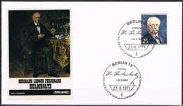[C0121] Berlín 1971; FDC CL Aniv. Nacimiento De Hermann Von Helmholtz (NS) - FDC: Enveloppes