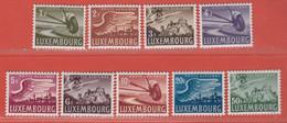 1946 Luxemburg ** (sans Charn., MNH, Postfrisch)  Yv  PA 7/15Mi  403/11 - Nuevos
