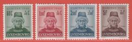1946 Luxemburg  ** (sans Charn., MNH, Postfrisch)  Yv  388/91Mi  413/6 - Nuevos