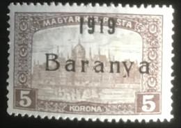 Magyar Posta - Hongarije - L1/11 - MNH - 1919 - Parlementsgebouw - Baranya