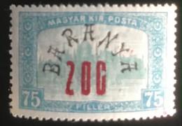Magyar Posta - Hongarije - L1/11 - MNH - 1919 - Michel 60 - Parlementsgebouw Met Opdruk - Baranya