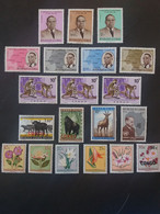 Repubblica Democratica Del Congo 1961 The 1st Anniversary Of Independence MNH + FLOWER - ANIMAL MNHL - Republic Of Congo (1960-64)