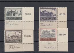 GG Generalgouvernement MiNr. 113-116, ** Eckrand E4, Stich - Ocupación 1938 – 45