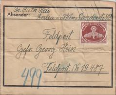 Feldpost II. Weltkrieg: Paketausschnitt Von Berlin An FPNr. 19 487 - Ocupación 1938 – 45