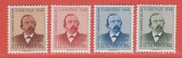 1948 Luxemburg  ** (sans Charn., MNH, Postfrisch)  Yv  410/3Mi  435/8 - Nuevos