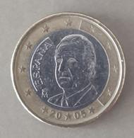 2005  - SPAGNA  - MONETA IN EURO -  VALORE  1,00  EURO   - CIRCOLANTE - Spanien