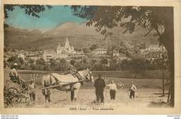 F. 01 GEX. Paysans Avec Allelage Pour La Moisson Et Garde Champêtre 1934 - Gex