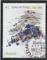 FRANCE 2014 JOAN MITCHELL OBLITERE A DATE YT 4849  - - Usati