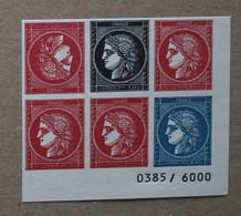 T5-E4 : Salon Philatélique D'Automne 2019 - 6 Timbres (rouge, Noir Et Bleu) Cérès Dont 1 Paire Tête-bêche - Unused Stamps