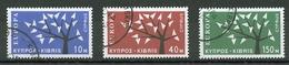 Chypre - Cyprus - Zypern 1962 Y&T N°207 à 209 - Michel N°215 à 217 (o) - EUROPA - Gebraucht