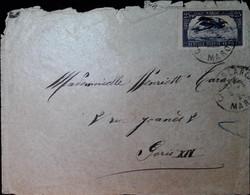 G 4 1924/......lettre  Manque 1 Tp - Poste Aérienne