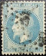 N°29A. Napoléon 20c Bleu. Oblitéré - 1863-1870 Napoléon III Lauré