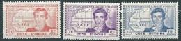 """Cote Ivoire YT 141 à 143 """" René Caillé """" 1939 Neuf** - Neufs"""
