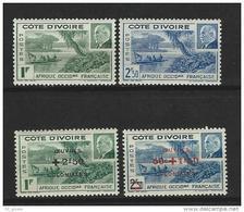 "Cote Ivoire YT 169 170 175 176 "" Mal  Pétain "" 1941-44 Neuf** - Neufs"