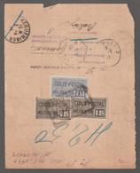 N°15 X 2 + N°26 + Timbre Humide 10c, BORDEAUX CENTRAL, Pour Forbach (écrit) , Sarreguemines Càd - Cartas
