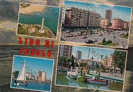 CARTOLINA  JESOLO LIDO,VENEZIA,VENETO,MARE,SOLE,SPIAGGIA,BARCHE A VELA,,ESTATE,LUNGOMARE,VACANZA,BAGNI,VIAGGIATA 1981 - Venezia (Venice)