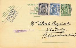 Pwst Bruxelles 3.X.1938 Vers Klatovy, Tchécoslovaquie / Censure CENSUROVANO – Rare Destination - Cartoline [1934-51]