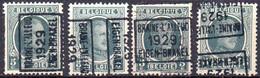 N° 4656A/BC/D BRAINE-L'ALLEUD 1929 EIGEN-BRAKEL - Roller Precancels 1920-29