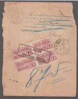 N°24 Bloc De 4+ Timbre Humide 10c, PARIS-RASPAIL EST, Pour Algrange (moselle) - Cartas