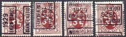 N° 4999A/BC/D BRAINE-L'ALLEUD 1929 EIGEN-BRAKEL - Roller Precancels 1920-29