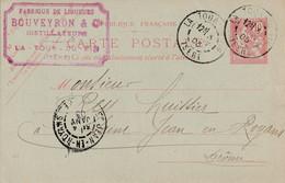 Entiers Postaux La Tour Du Pin 1903 A Saint Jean En Royans - Cartes Postales Types Et TSC (avant 1995)