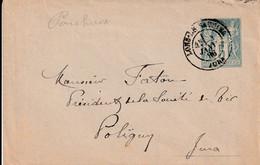 Entiers Postaux   1906 Lons Le Saunier A Poligny - Cartes Postales Types Et TSC (avant 1995)