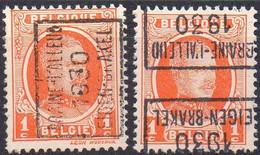 N° 5283A/D BRAINE-L'ALLEUD 1930 EIGEN-BRAKEL - Roller Precancels 1930-..