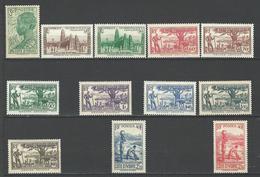 """Cote Ivoire YT 151 à 161 """" Série Complète """" 1939-42 Neuf* - Neufs"""