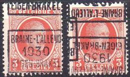 N° 5411C/D BRAINE-L'ALLEUD 1930 EIGEN-BRAKEL - Roller Precancels 1930-..
