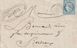 Paris 15 Octobre 1871 A Bordeaux - 1871-1875 Cérès