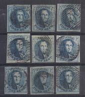Belgium 20c Bleu Médaillon N°7 (9)  Bien Margés - 1851-1857 Medallions (6/8)