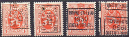 N° 5611A/B/C/D BRAINE-L'ALLEUD 1930 EIGEN-BRAKEL - Roller Precancels 1930-..