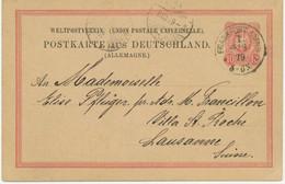 "DEUTSCHES REICH ""FRANKFURT A/MAIN / 1."" K1 10 Pf Adler Kab.-GA-Auslands-Postkarte ABART - Engraving Errors"