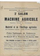 1923 / 2ème Salon Internationale Machine Agricole Et Semences / Grand Palais Champs Elysées / Paris - Manifesti