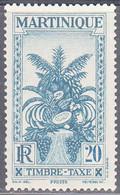 MARTINIQUE   SCOTT NO  J28   MINT HINGED    YEAR 1933 - Neufs