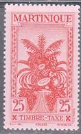 MARTINIQUE   SCOTT NO  J29   MINT HINGED    YEAR 1933 - Neufs
