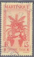 MARTINIQUE   SCOTT NO  J31   USED    YEAR 1933 - Neufs