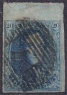 Belgium - Médaillon 20c Bleu N°11  BDF, Très Bien Margé - 1858-1862 Medallions (9/12)